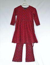 Vintage Set MARIMEKKO MIKA PIRANEN Velour Dress and pants Size 120 ( 6-7 Year )