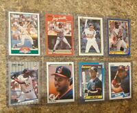 (8) Albert Belle 1989 1990 Upper Fleer Score Topps Donruss rookie card lot RC