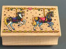 Carousel Horses~All Night Media Rubber Stamp~#573F Made In U.S.A ~ Retired