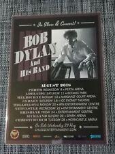 BOB DYLAN - 2018 AUSTRALIA TOUR - LAMINATED PROMO TOUR POSTER - OFFICIAL