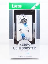 Lucas H7 477 Car LightBooster 130% Headlamp Light Bulbs 499 PX26D 12v 55w