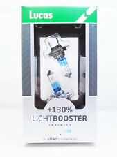 Lucas H7 477 Car LightBooster 130% Headlight Light Bulbs 499 PX26D 12v 55w