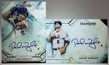 2020 Topps Diamond Icons David Wright Auto Lot #AC-DWR & #DIA-DW #/25 NY Mets