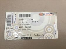 will young concert ticket, Newcastle city hall (12th Nov 2011)
