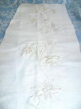 Soie sauvage brodée panneau pour la robe de mariage. ivoire