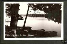 Chetek Wisconsin 1940s RPPC Justy's Six Lakes Resort WI