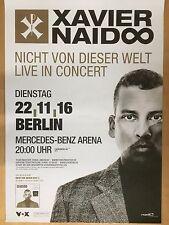 XAVIER NAIDOO  2016  BERLIN   ++ orig.Concert Poster -- Konzert Plakat  A1 NEU