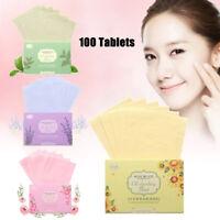 100pcs Oil Control Film Oil-Absorbing Blotting Facial Face Clean Paper Sheets