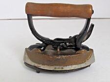 Antique Cast Iron Toy Sad Flat Iron with detachable Handle