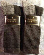 2pr Men's PREMIUM Merino Wool Crew Boot Socks DK GRAY w/ Arch Support XL 12-14
