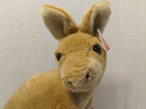 Vtg Dakin Applause Mama Kangaroo & Joey Plush Tan/lit' brown Stuffed Animal NWT