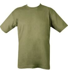 OLIVE GREEN SHORT SLEEVE T SHIRT ARMY MILITARY PAINTBALL