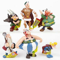 6pcs/set Classic France Cartoon The Adventures Of Asterix Pvc Figures For Kids