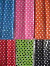 6 MINI Polka Dot Designed Headbands Continuous stretch FUN! LOT Nylon colors