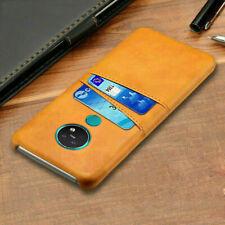 For Nokia 7.2 6.2 4.2 3.2 / 2.2 Slim Leather Wallet Card Pocket Back Case Cover