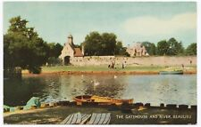 Hampshire; The Gatehouse & River, Beaulieu PPC Unposted, c 1960s, By Salmon