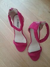 Deep Seven Womens Pink Stiletto Sandals size 5 New