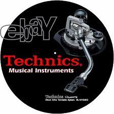 "PAIR (2) Technics Japan Original ""Musical Instruments"" DJ Slipmats slipmat vRARE"