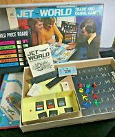 Vintage 1975 Milton Bradley Jet World Trade And Travel Board Game