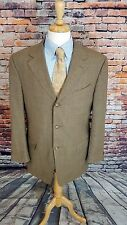 Canali Proposta ITALY 44L Beige Bird's Eye 3 Button Super 120s Sport Coat Jacket