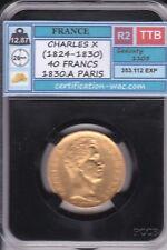 40 FRANCS CHARLES X 1830.A PARIS OR/GOLD