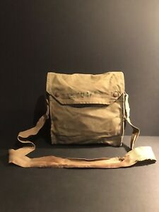 Original WW2  British RESPIRATOR haversack Name & Service Number