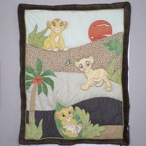 Disney Lion King Simbas Wild Adventure Quilted Crib Blanket Baby Comforter 36×45