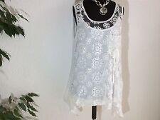 Lockre Sitzende Ärmellose Damenblusen,-Tops & -Shirts mit Baumwollmischung für Party