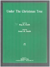 Under The Christmas Tree 1965 Garnerville NY Vintage Sheet Music