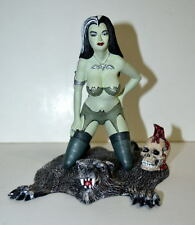 "Sexy 5.75"" LILY MUNSTER on BEAR RUG STATUE w Professional Build & Paint"