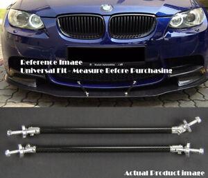 "2 x Carbon 9.5"" Bumper Lip Diffuser Splitter Spoiler Support Rod Bar for BMW"