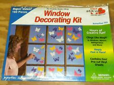 Beautiful Colorful Butterflies up to 5 in long Clings to windows & more  NEW
