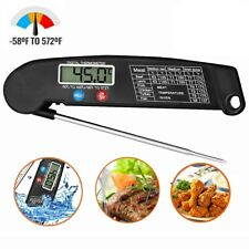 1Pc Instant Reading Meat Thermometer Lcd Digital Cooking Bbq Food Oil Us Stock