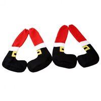 4pcs Christmas Table Chair Leg Cover Santa Claus Foot Shoes Xmas Party Decor New