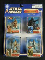 STAR WARS ATTACK OF THE CLONES 4-PACK MACE WINDU DARTH VADER SOLO SKYWALKER