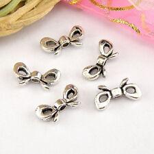 25Pcs Tibetan Silver,Gold,Bronze Butterfly Knot Spacer Beads 6x12mm M1656