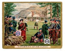 TRADE CARD HUNTLEY & PALMERS BISCUITS GATHERING OF THE CLANS