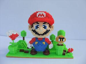 Luigi Nanoblock Construction Kit 330 Nanoblocks Super Mario Brothers