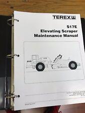 Terex S17E Elevating Scraper Maintenance Shop Manual