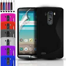 S-Line Silicone Gel Case Cover Pouch For LG G3 (2014) & FREE Screen Protector