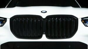 BMW Genuine G05 X5 Shadowline Gloss Black Front Grille & Exhaust Tips Black