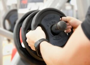 5kg Premium Urethane Coated Cast Iron Olympic & Standard Lifting Weight Plates