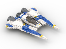 Custom LEGO Star Wars Mandalorian Fang Fighter -Instructions and Parts List Only