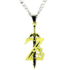 Game Legend of Zelda Metal Sword Zelda Necklace Zelda Symbol Cosplay Pendant