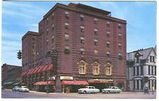 Corning NY Crystal City Baron Steuben Hotel Old Autos Postcard
