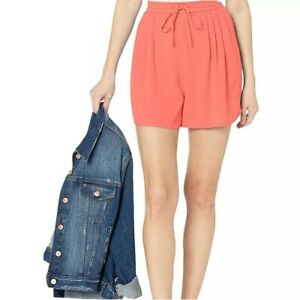 New J Crew Mercantile Pull On Shorts Tassel Tie Coral Small S Womens
