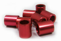 8 Red Aluminum Spacers for Inline skate wheels for MICRO bearings & 8mm axles