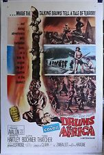Drums of Africa 1963 27 X 41+  movie poster linen Frankie Avalon