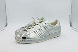 adidas Superstar 80s Metallic Pack 11 UK Limited Silver Metal Toe S82741 a4x