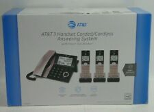AT&T CL84327 3 Cordless+ 1 Corded Handset Phone w Answering System Rose Gold